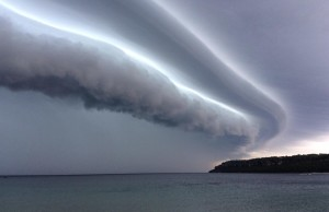 Storm clouds over Lake Huron east of Lion's Head Aug. 2, 2014 (photo submitted by Jacob Dickinson)