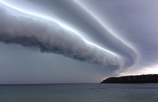 Storm clouds over Lake Huron east of Lions Head Aug. 2, 2014 (photo submitted by Jacob Dickinson)