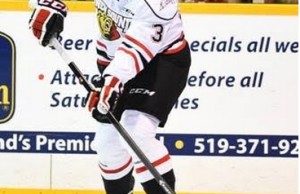 Owen Sound Attack Defensemen, Damir Sharipzyanov. Photo courtesty of the Owen Sound Attack.
