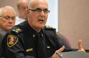 Windsor Police Chief Al Frederick attends WIndsor City Council on August 4, 2015. (Photo by Ricardo Veneza)