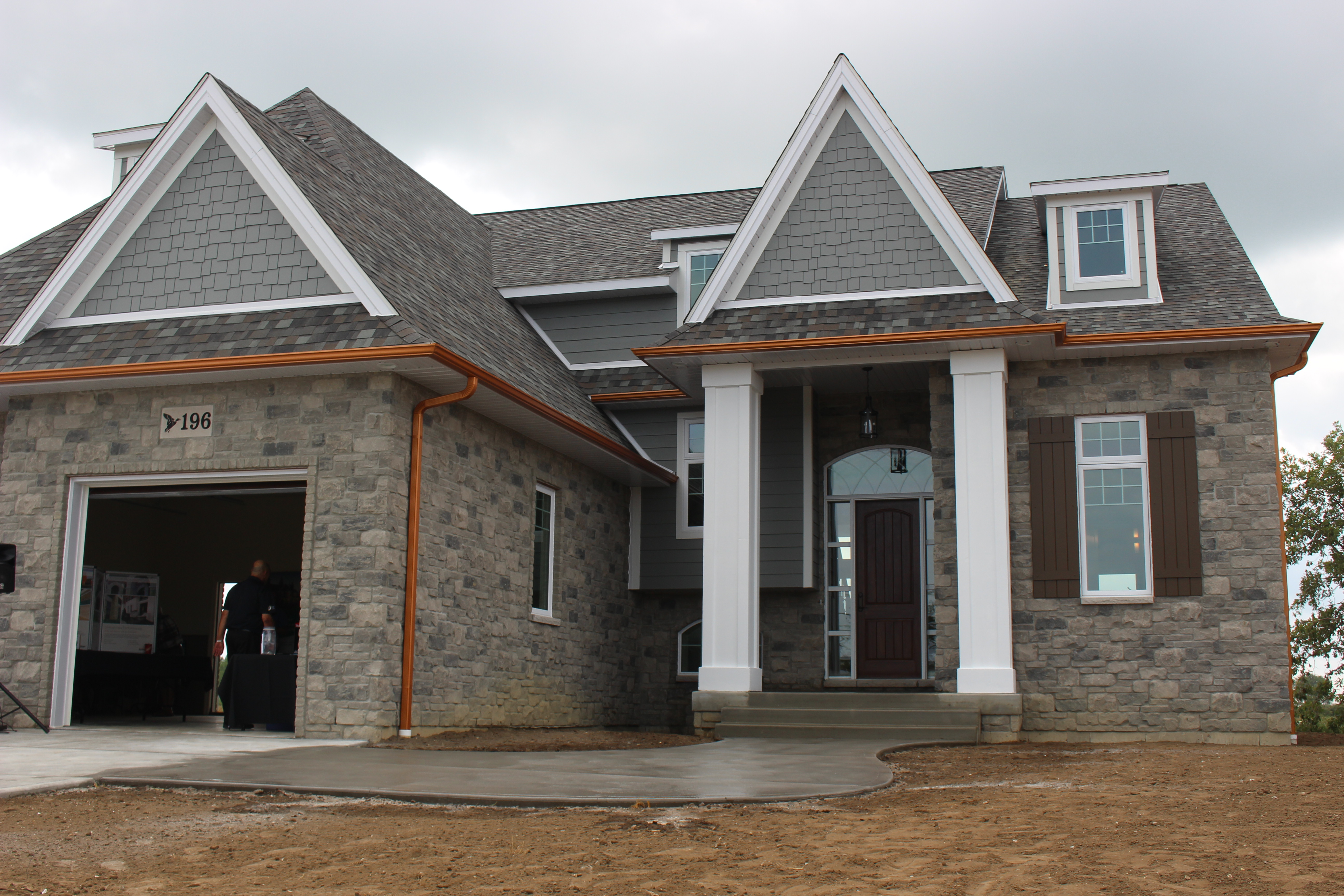 The regions first net-zero home is unveiled in Belle River, August 28, 2015. (Photo by Jason Viau)