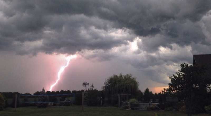 Lightning strike. (Photo courtesy of Rachel Hoekstra)