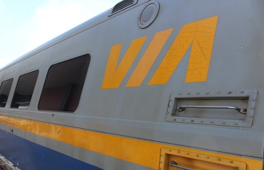 BlackburnNews.com file photo of a Via Rail train . (Photo by Jason Viau)