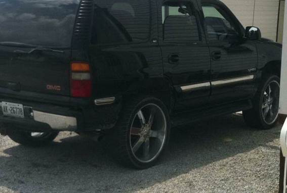 2001 GMC Yukon SUV stolen from Wallaceburg on Thursday, August 6. (Photo courtesy of Chatham-Kent Police)