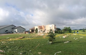 Storm damage in Teviotdale August 2nd, 2015. Photo Courtesy of Ali Ivel via Facebook.