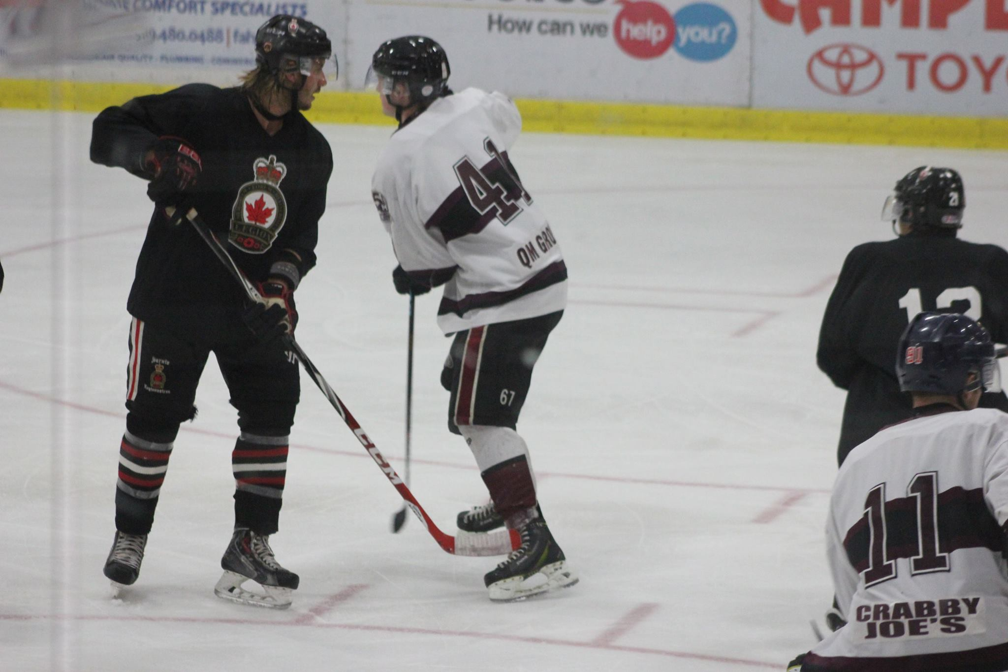 The Chatham Maroons take on the Sarnia Legionnaires, September 9, 2015. (Photo courtesy of Jocelyn McLaughlin)