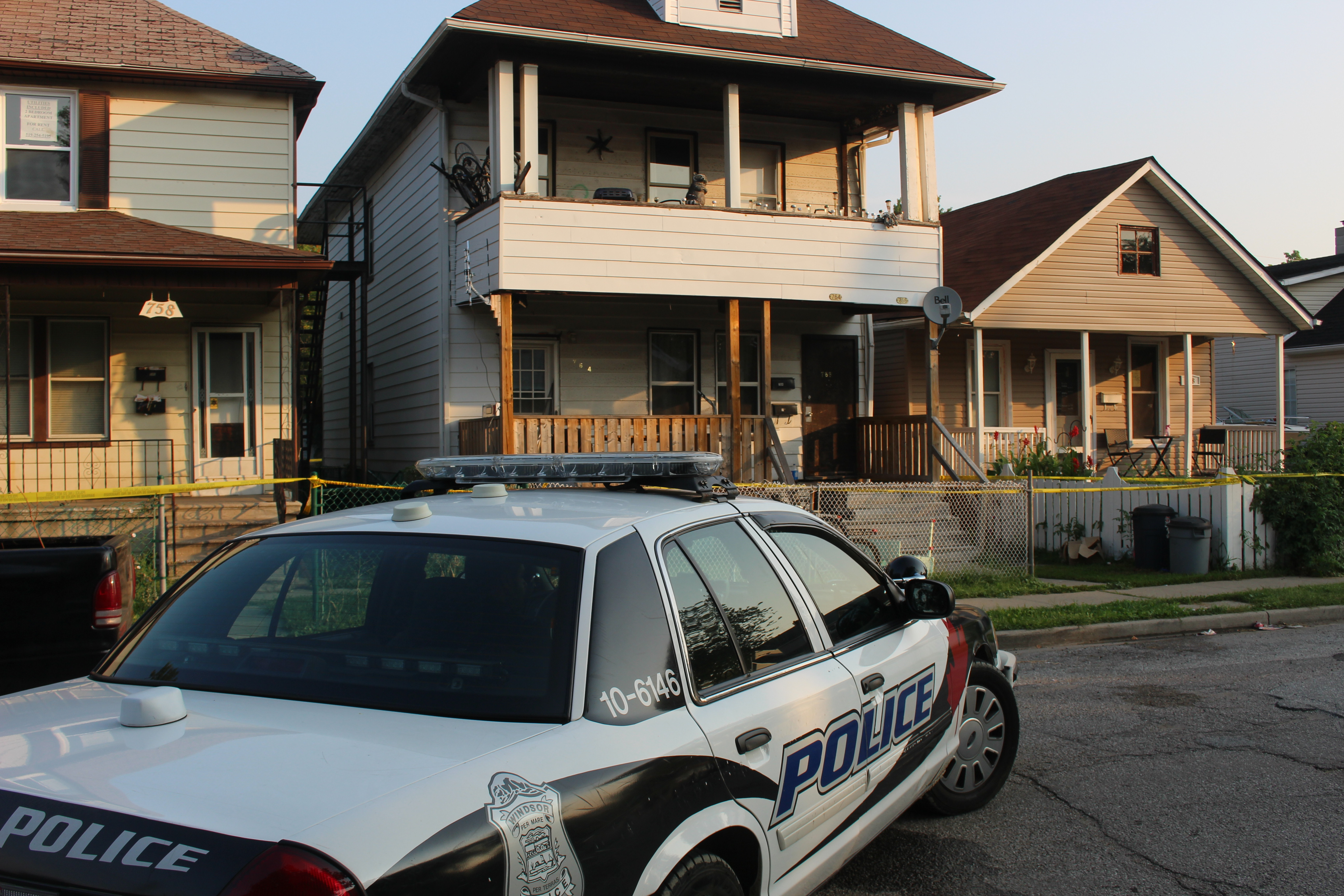 Windsor police investigate a homicide at 764-766 Brant St. September 2, 2015. (Photo by Adelle Loiselle)