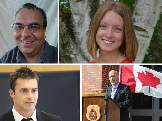 The candidates in the Chatham-Kent-Leamington riding for the 2015 federal election. (Photos courtesy of Mark Vercouteren, Dave Van Kesteren, Katie Omstead and by Jason Viau)