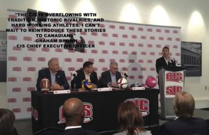Graham Brown introduced as CEO of Canadian Interuniversity Sport (CIS). (Photo courtesy of CIS twitter account)