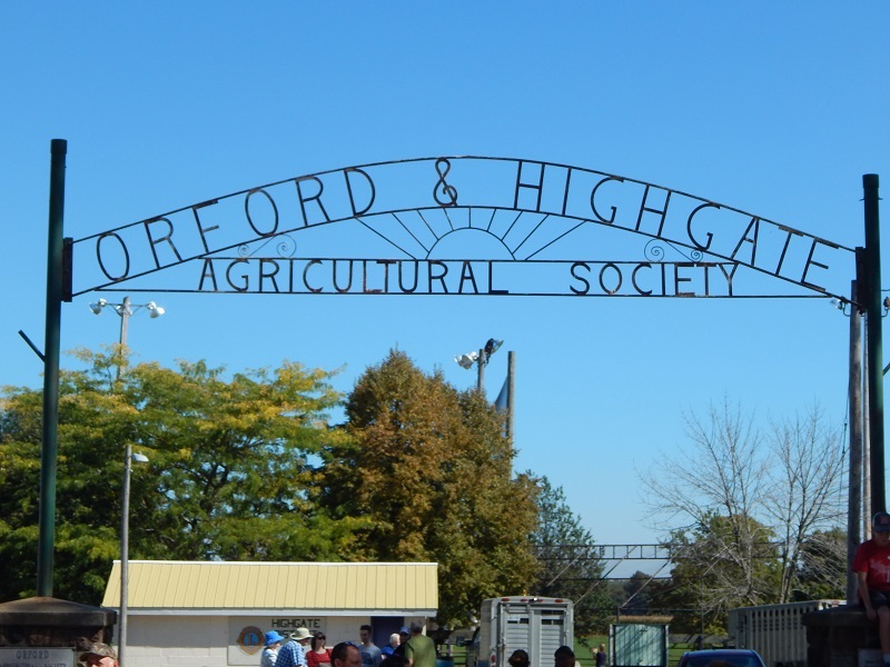 Orford & Highgate Agricultural Society gate at the fairgrounds. (Photo by Simon Crouch)