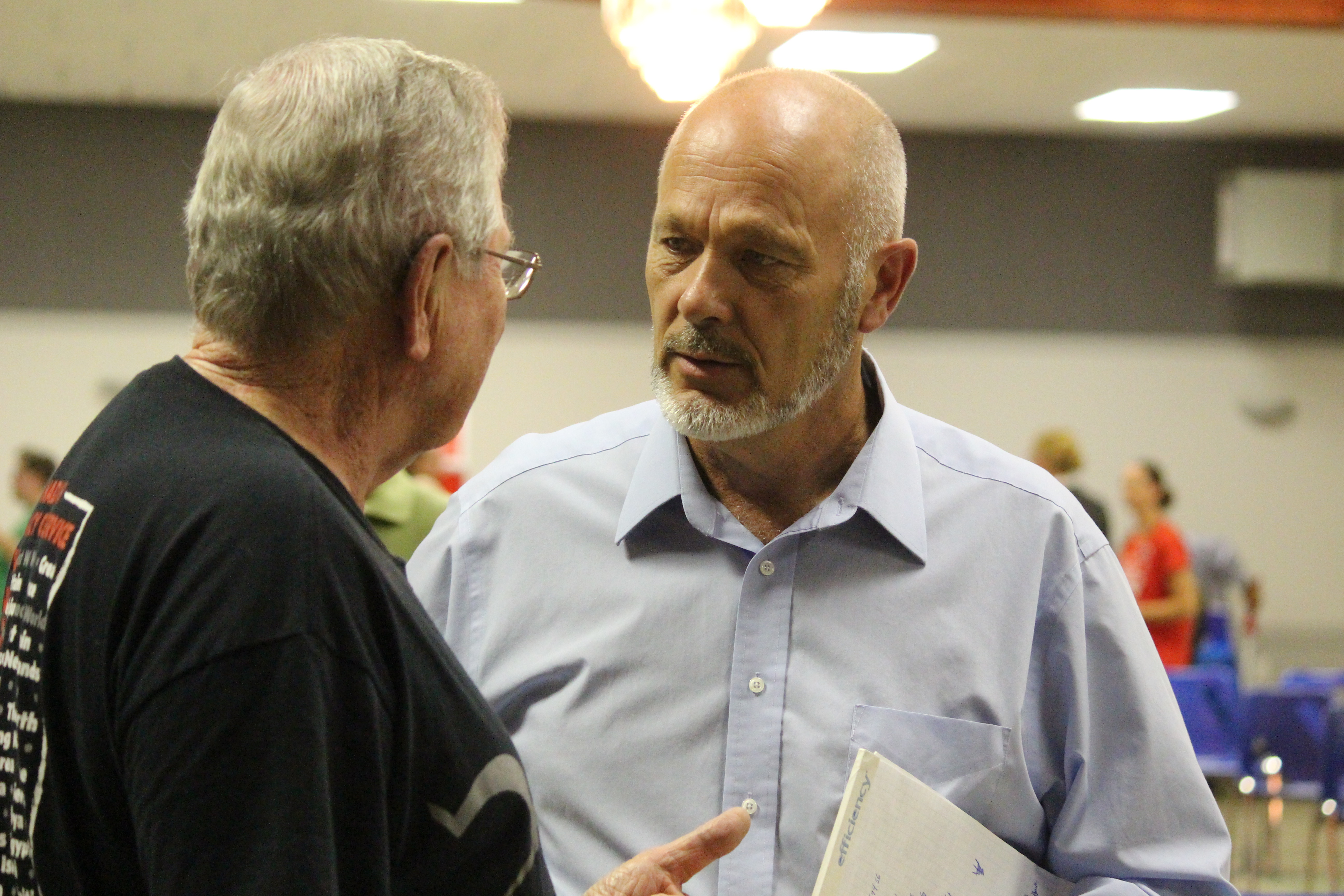 Chatham-Kent-Leamington MP, Dave Van Kesteren, attends an all-candidates debate in Tilbury as the then-Conservative candidate on September 24, 2015. (Photo by Ricardo Veneza)