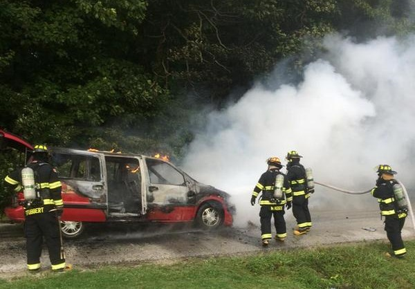 Leamignton Car Fire September 4, 2015