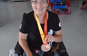 Tammy McLeod with the ParaPan Am Games bronze medal. Photo courtesy of Facebook.