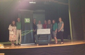 The Wingham Town Hall Theatre Committee is working to get a major project underway with help from donors. From left to right: Pat Jamieson (committee member), David Magee (Vice chair), Kendra Prescott (Regional Sales Manager Western Ontario Region for TD), Art FitzGerald (Grant Committee chair), Pat Newson (Director of Recreation and Facilities, North Huron), Sandra Brown (TD Wealth Financial Planning), Miranda dBoer (Branch Manager, TD Wingham), Melissa Holden (Manager of customer service)