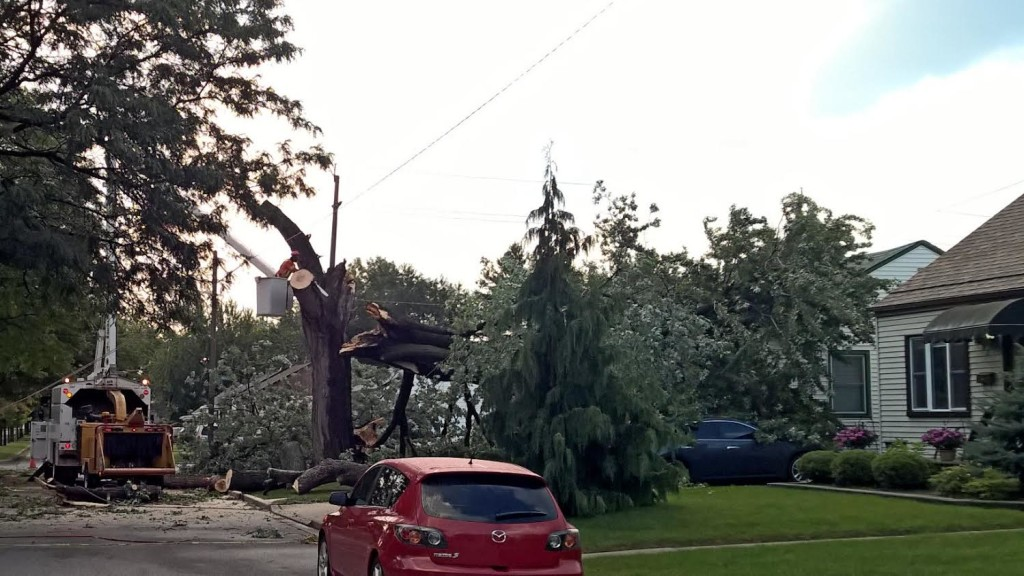 storm damage felix ave. September 4, 2015