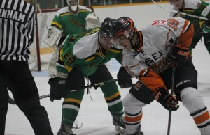 The Essex 73's take on the Wallaceburg Lakers, October 7, 2015. (Photo courtesy of Barb Ducedre)