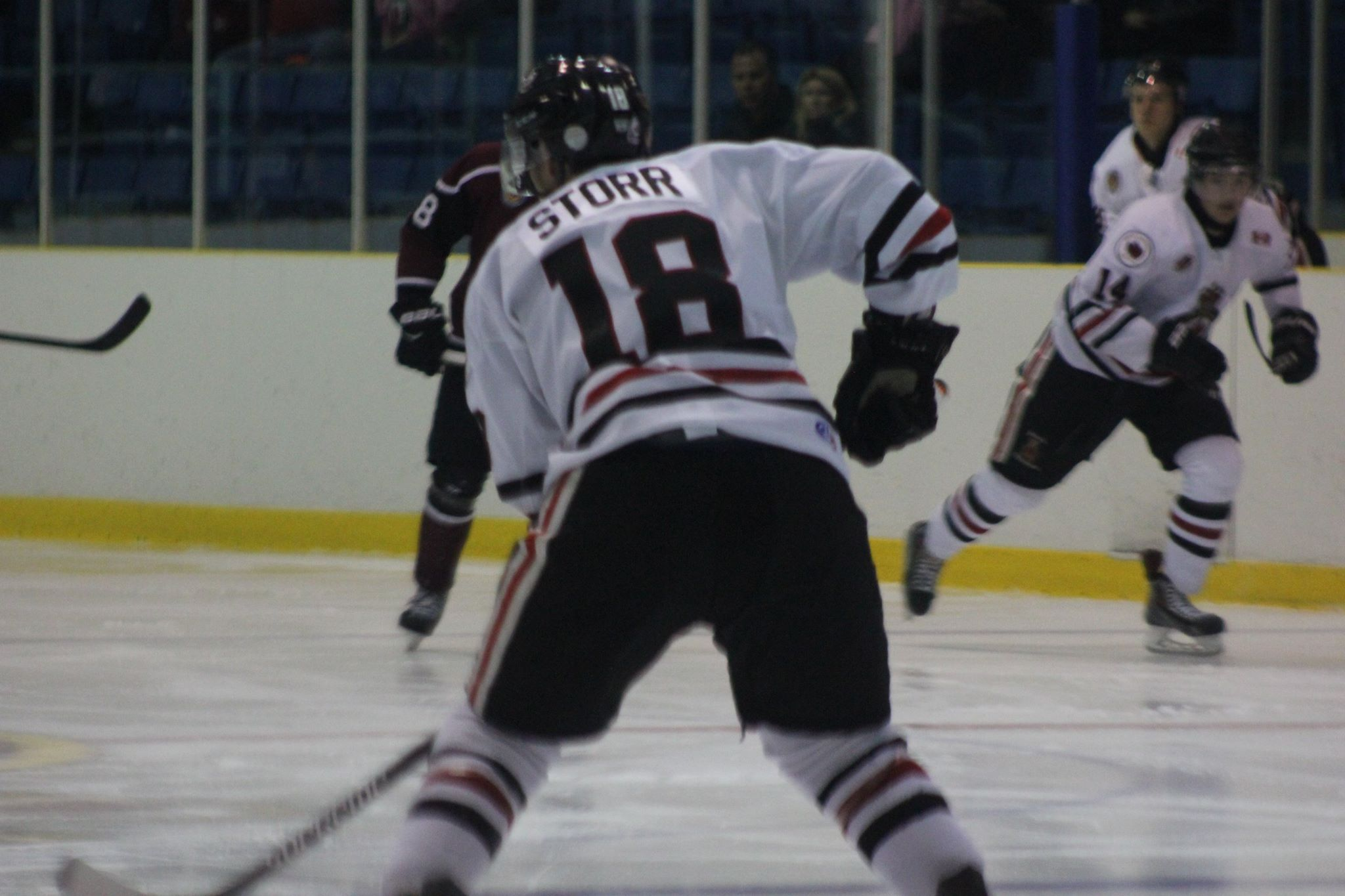 The Chatham Maroons take on the Sarnia Legionnaires, October 29, 2015. (Photo courtesy of Jocelyn McLaughlin)