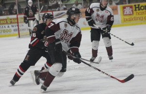 The Chatham Maroons take on the Sarnia Legionnaires, October 18, 2015. (Photo courtesy of Jocelyn McLaughlin)