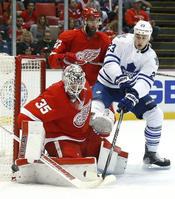 Abdelkader has hat trick, Red Wings beat Leafs, Babcock 4-0