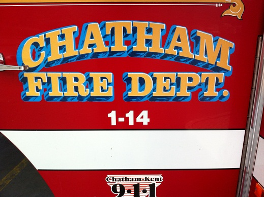 A Chatham-Kent Fire Department truck. (Photo by Bob Becken)