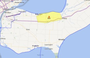 Power outage across Lakeshore. October 2, 2015 (Photo provided by Hydro One)