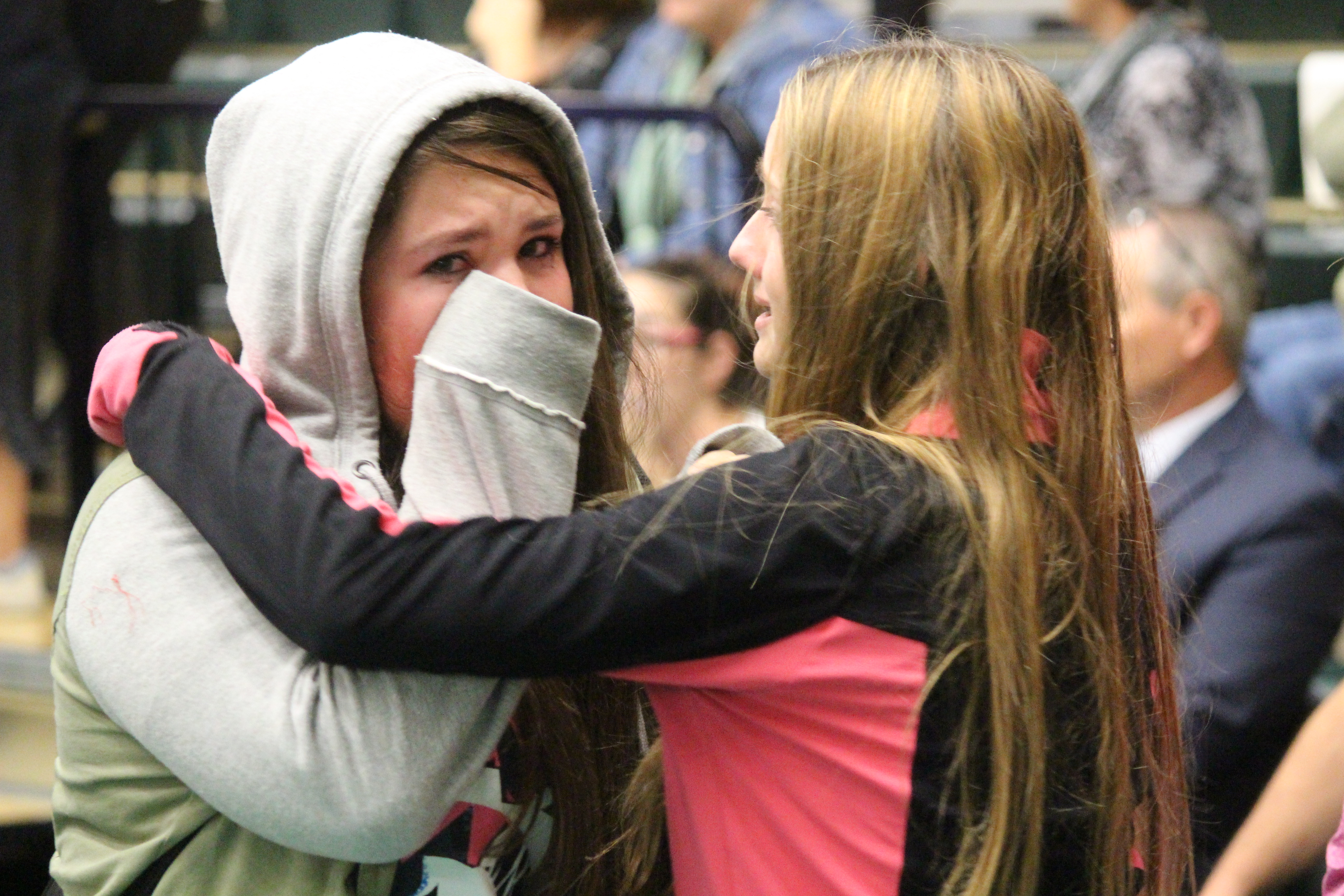 Harrow District High School students left in tears October 13, 2015 after learning their school will close. (Photo by Jason Viau)