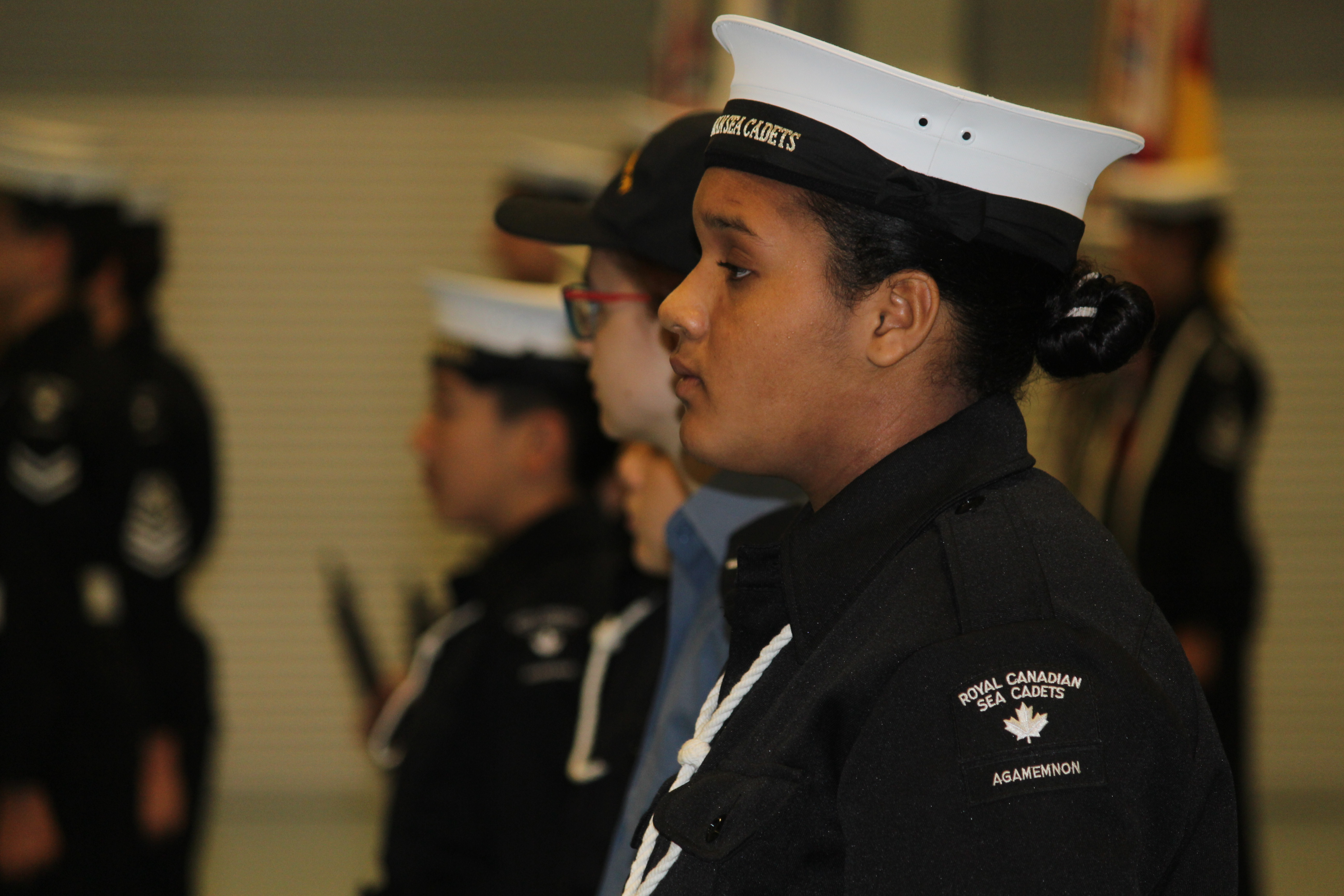 The Royal Canadian Sea Cadet Corps Agamemnon Windsor, Ontario branch seen at the HMCS Hunter building on October 28, 2015. (Photo by Ricardo Veneza)