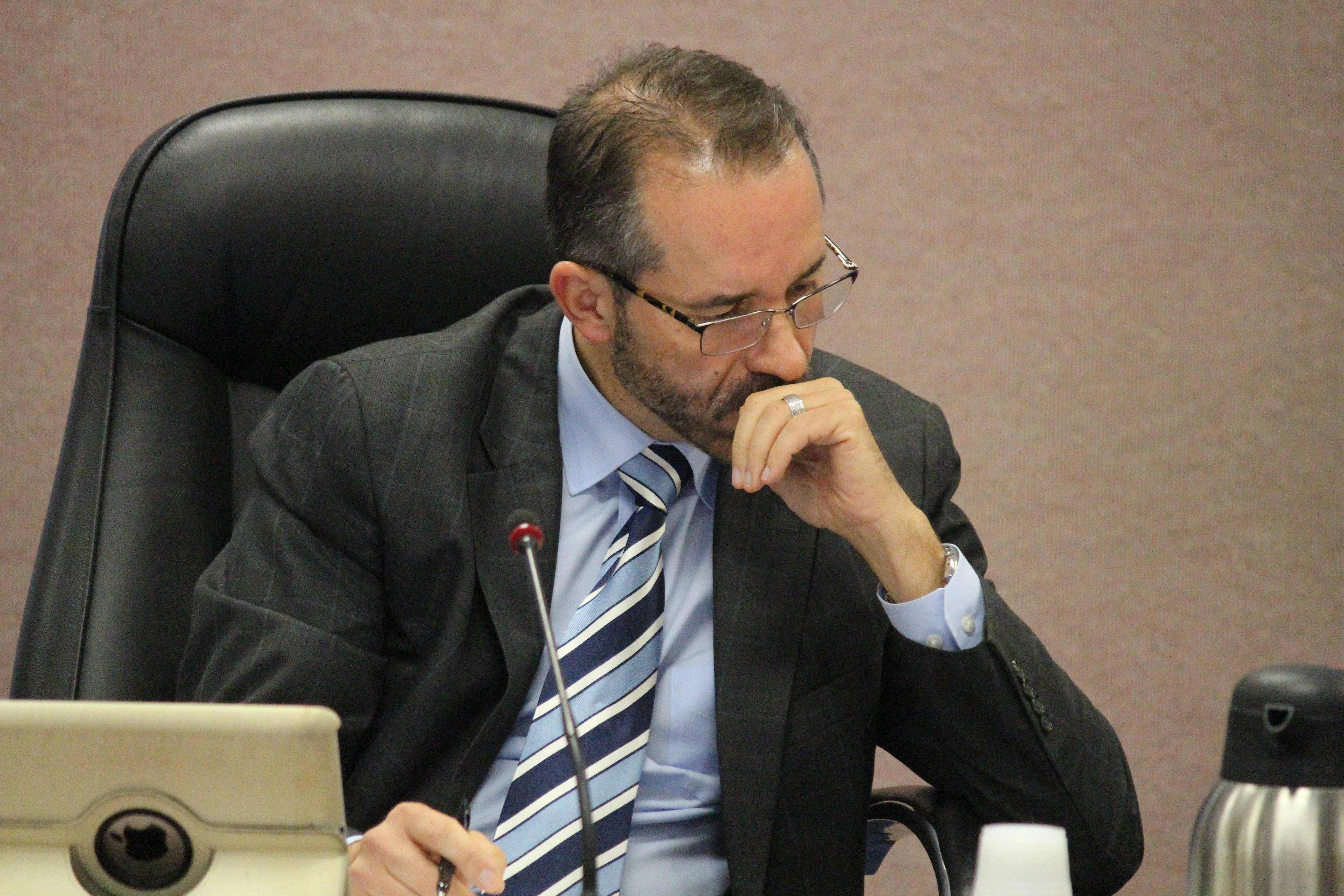 Councillor Bill Marra is pictured as Windsor city council debates hiring an in-house auditor general on October 29, 2015. (Photo by Ricardo Veneza)