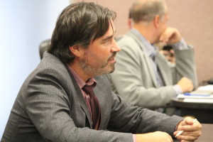 Windsor resident Kieran McKenzie is pictured attending a special meeting on October 29, 2015 as Windsor city council debates hiring an in-house auditor general. (Photo by Ricardo Veneza)