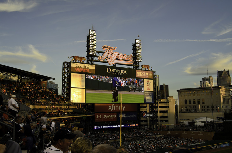 Comerica Park in Detroit (Photo courtesy of © Can Stock Photo Inc. / flashpackersphotos)