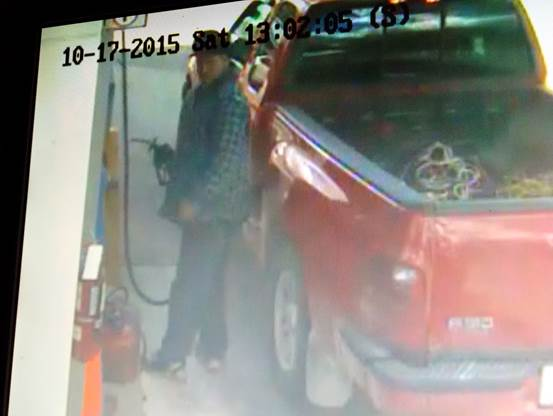 Photo of a suspected fuel tank thief. (Photo courtesy of Chatham-Kent police)