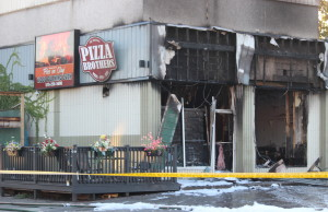 Damage at Pizza Brothers restaurant in Windsor, October 12, 2015. (Photo by Adelle Loiselle)