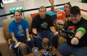 Four local gamers are playing video games for 24h at Lambton Mall in support of Noelle's Gift. November 27, 2015. (BlackburnNews.com Photo by Briana Carnegie)
