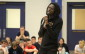 Recording artist and motivational speaker Emmanuel Jal visits Ursuline College in Chatham on November 26, 2015. (Photo by Ricardo Veneza)
