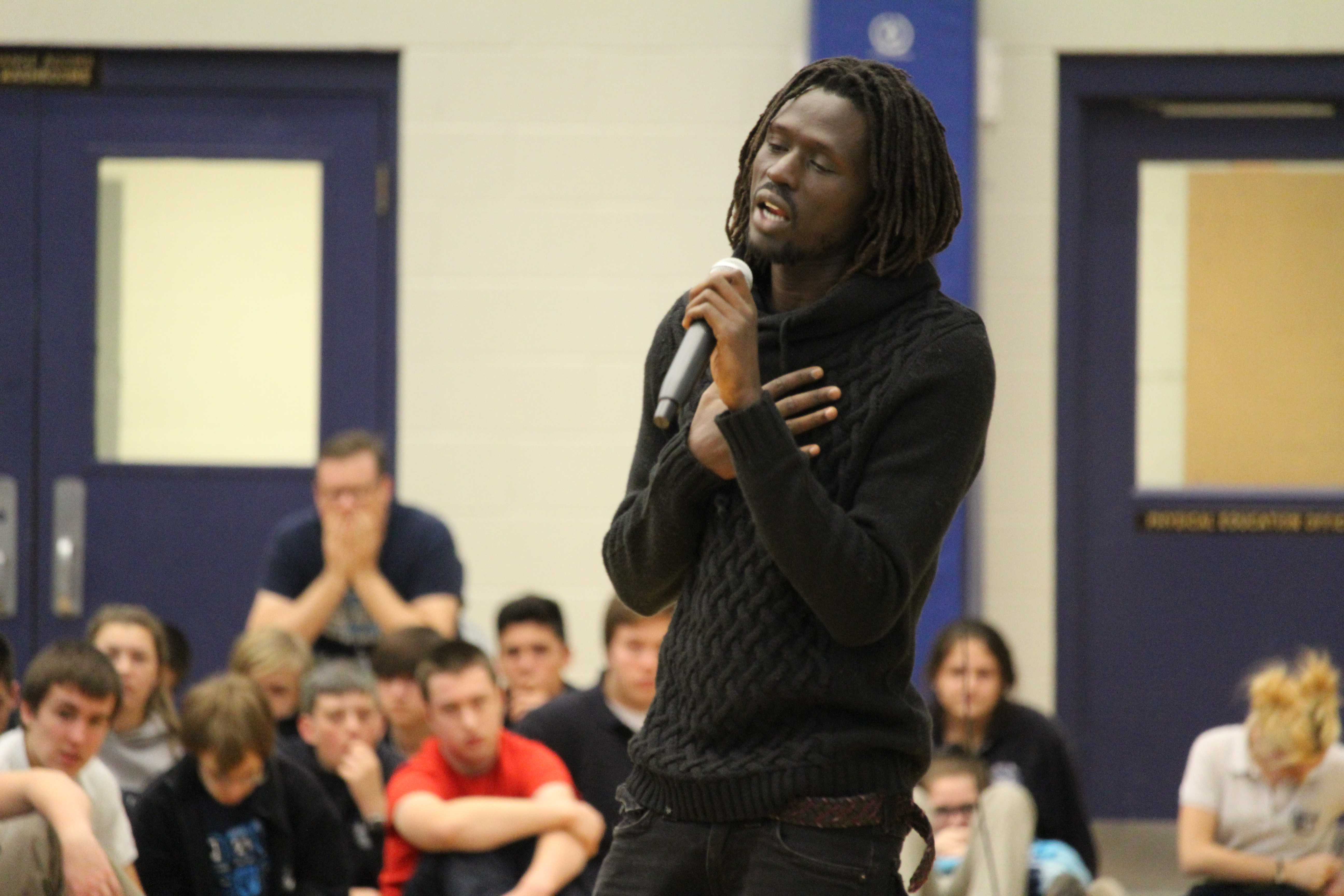 Former Child Soldier Inspires Local Students (GALLERY)