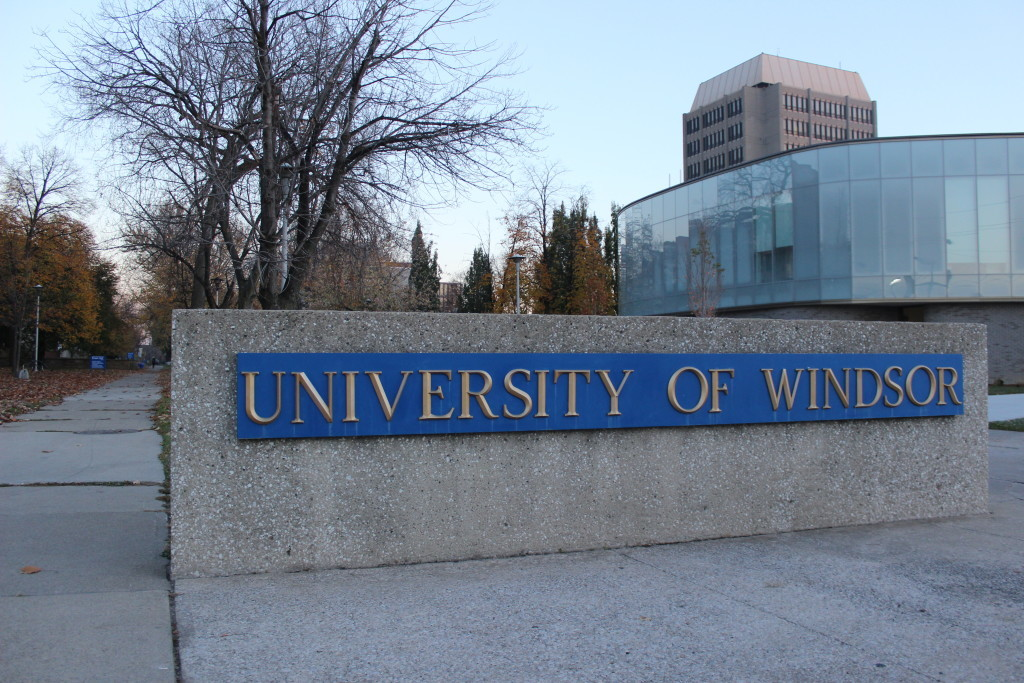 A University of Windsor sign. (Photo by Alexandra Latremouille)
