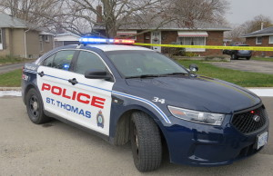 St. Thomas Police cruiser. (Photo by Miranda Chant, BlackburnNews.com)