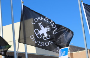 Correctional Officers OPSEU local flag (Photo by Maureen Revait)