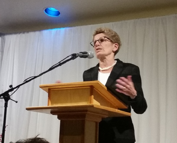 Premier Addresses Packed Hall in Mitchell