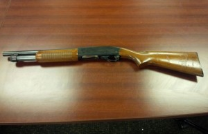 Photo of a shotgun London police say they seized from a home on Brydges St. Photo courtesy of London police.
