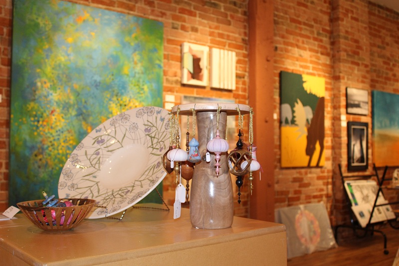 Displays of member art at Art Space December, 2, 2015. (Photo by Simon Crouch)
