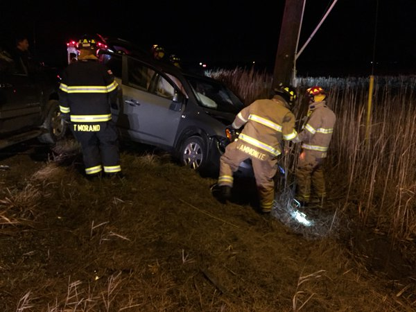 The Amherstburg Fire Department releases photos of a crash at Howard Ave. and Alma St. in Amherstburg on December 21, 2015. (Photo courtesy Amherstburg Fire Department)