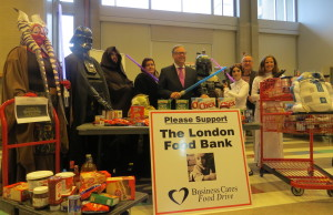 Campaign Chair, Wayne Dunn, launches the 2015 Business Cares Food Drive. (Photo by Miranda Chant, BlackburnNews.com)