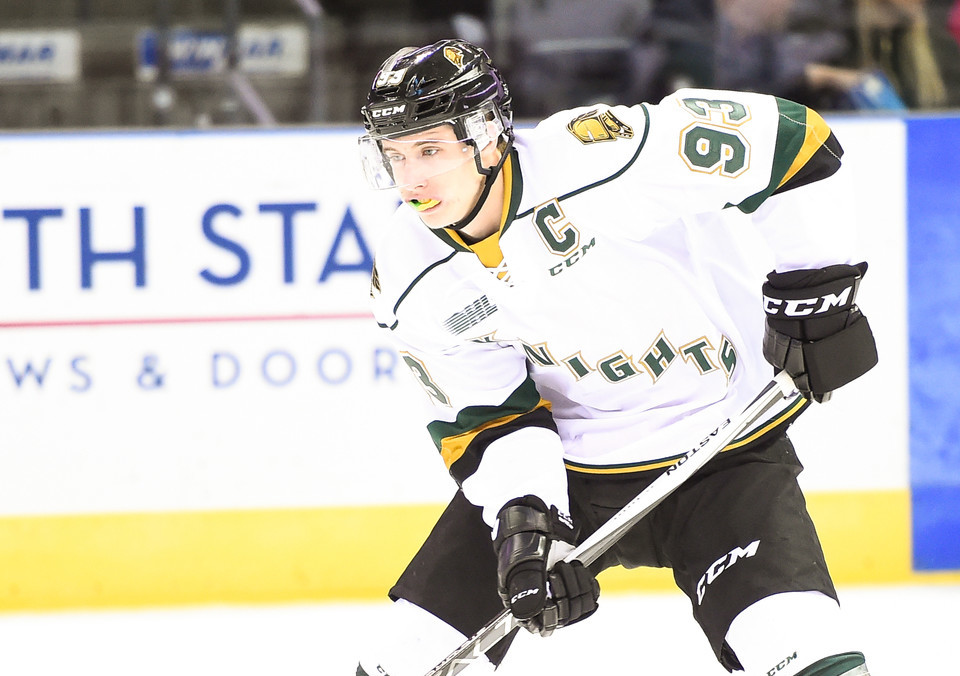 Mitchell Marner of the London Knights. (Photo courtesy of Aaron Bell via OHL Images)