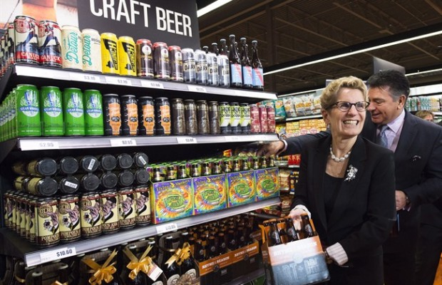 Wynne makes history buying beer at Loblaws