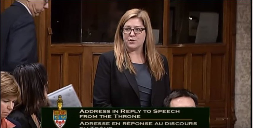 Essex MP Tracey Ramsey makes her maiden question in the House of Commons, December 11, 2015. (Courtesy of Tracey Ramsey.)