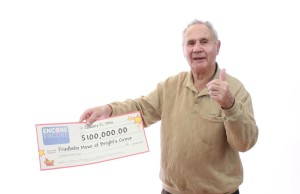 Friedhelm Mowe of Bright's Grove won $100,000 with Encore in the January 6 LOTTO 6/49 draw. (Submitted Photo)