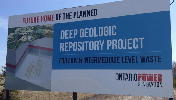 DGR Future site sign Kincardine