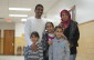 Mohammed Al-Khaleel, 41 and his wife Diana, 34 pose with young daugthers, Rooa, 10, Raghaed, 8, and Rahaf, 6 at a meet and greet at Sarnia's YMCA January 8, 2016 (BlackburnNews.com Photo by Briana Carnegie)