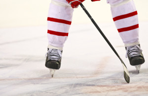 Ice hockey player waiting for the puck. © Can Stock Photo Inc. / funix